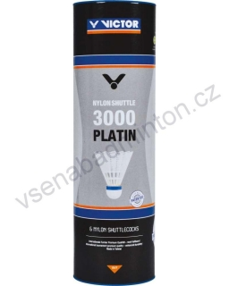 VICTOR Nylon Shuttle 3000 Platin (6 ks) - White