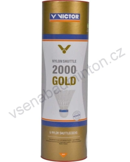 VICTOR Nylon Shuttle 2000 Gold (6 ks) - White