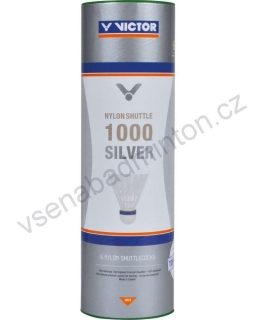 VICTOR Nylon Shuttle 1000 Silver (6 ks) - White